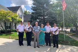 Family, friends join Woodstock World War II veteran for patriotic birthday celebration