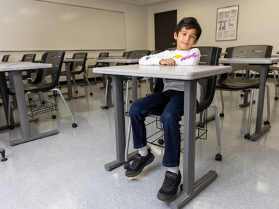 10-year-old Romeoville resident is a full-time Joliet Junior College student