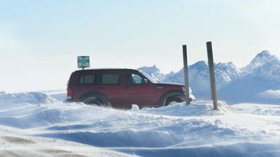 Snow makes for tough travel over the weekend