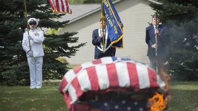 Photos: Flag retirement in Morrison.