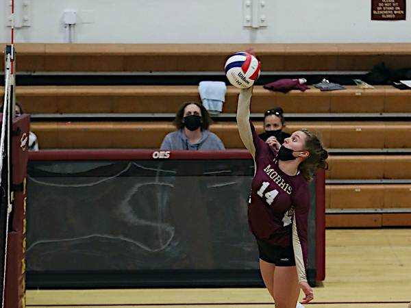 Morris volleyball pushes I-8 leader Kaneland to three sets in loss