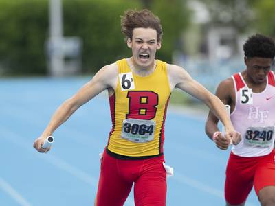 Boys Track and Field: 'This means the world' Reese Wheatley, Batavia 800 relay hold off H-F to take state title