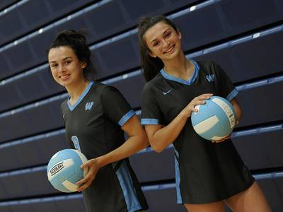 Girls Volleyball: 'It's really special' Sisters Calli and Hannah Kenny the driving force behind Willowbrook's unbeaten season