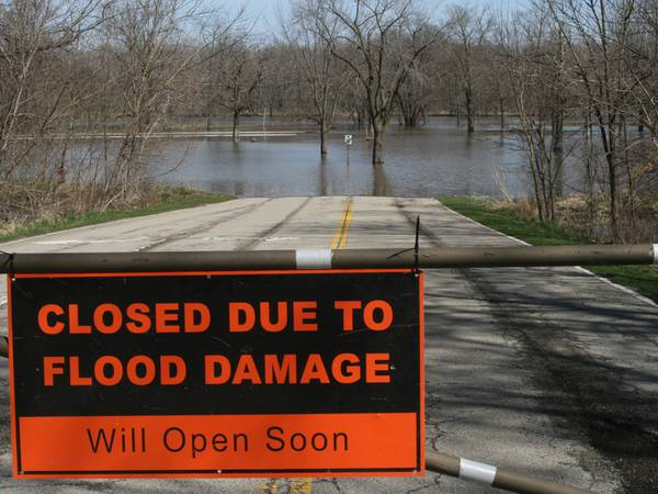 Starved Rock State Park lower lot closed because of flooding