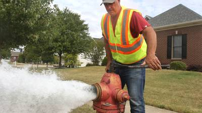 Photos: Sycamore Public Works performs hydrant flushing