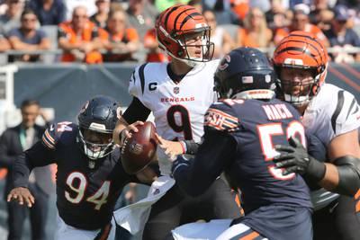 Bears pass rush dials up four sacks against Bengals, Joe Burrow