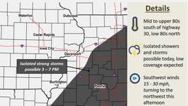 Forecast: Dixon on the storm line