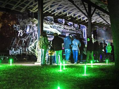 Skeleton crew brings Haunted Train to life at Dillon Home