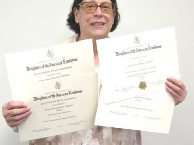 Photo: Chief Senachwine DAR receives awards