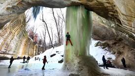 """Photos: """"It's All About The Climb."""" Ice climbers gather at Starved Rock State Park"""