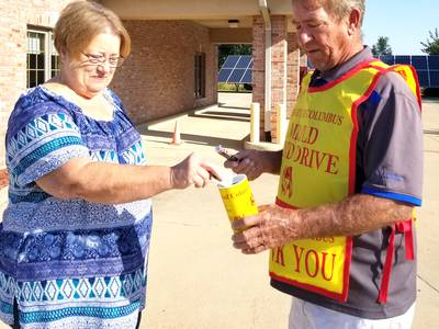 Photo: Sheffield Knights of Columbus hold Tootsie Roll campaign