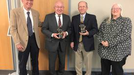 IVCC honors Stoutner, Cantlin for decades of service