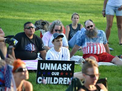 'It is for control' - Dozens continue protests against mask mandates in New Lenox
