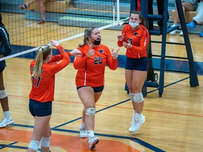 Girls Volleyball: 'We pulled it out' Oswego comes together, outlasts Oswego East in three-set thriller