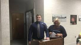 Oglesby swears in new police officer Rivara