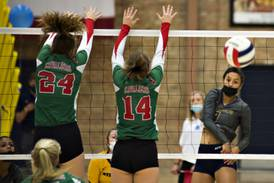 Volleyball: Sterling pulls away in both sets to top La Salle-Peru