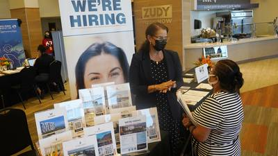 US unemployment claims rise after hitting pandemic low