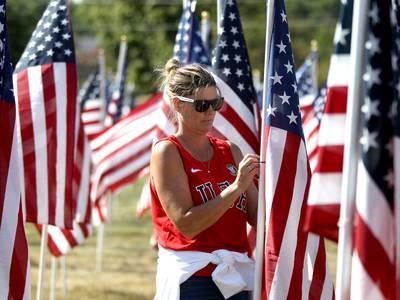St. Charles Veterans Center honors missing Vietnam War soldiers through Langum Park flag display